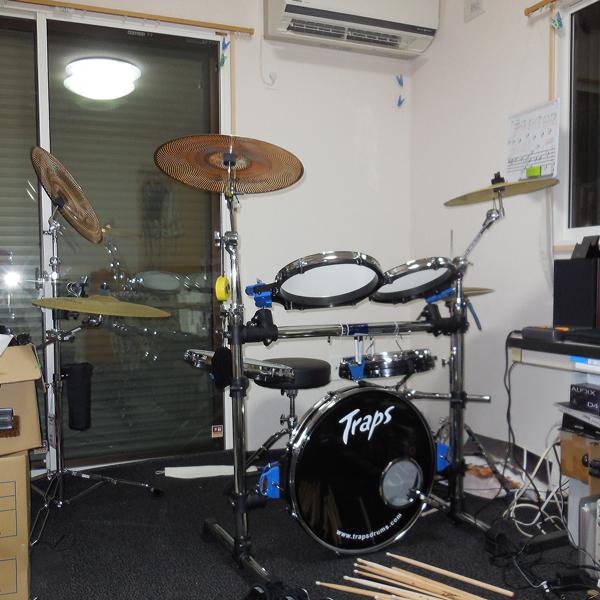 ご相談者の音楽知識との共同で作り上げたドラム練習室