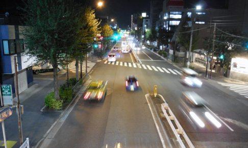 夜間の交通騒音